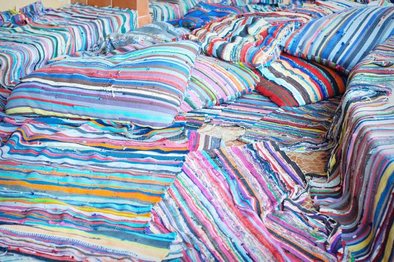 Textura de mantas coloridas de Egipto imagen de archivo libre de regalías