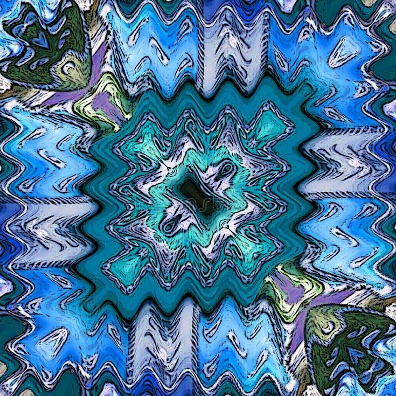 Textura de matéria têxtil Fundo velho da tela em cores frescas do inverno: azul de néon, cerceta do gelo ilustração royalty free