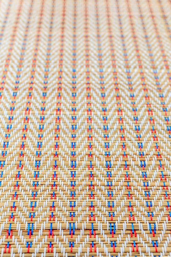 Textura de mimbre multicolora asiática del modelo fotos de archivo