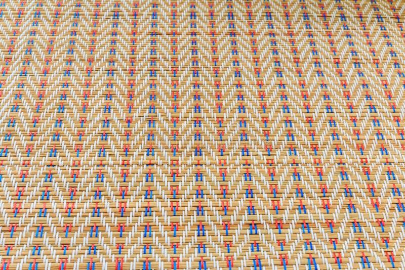 Textura de mimbre multicolora asiática del modelo fotos de archivo libres de regalías