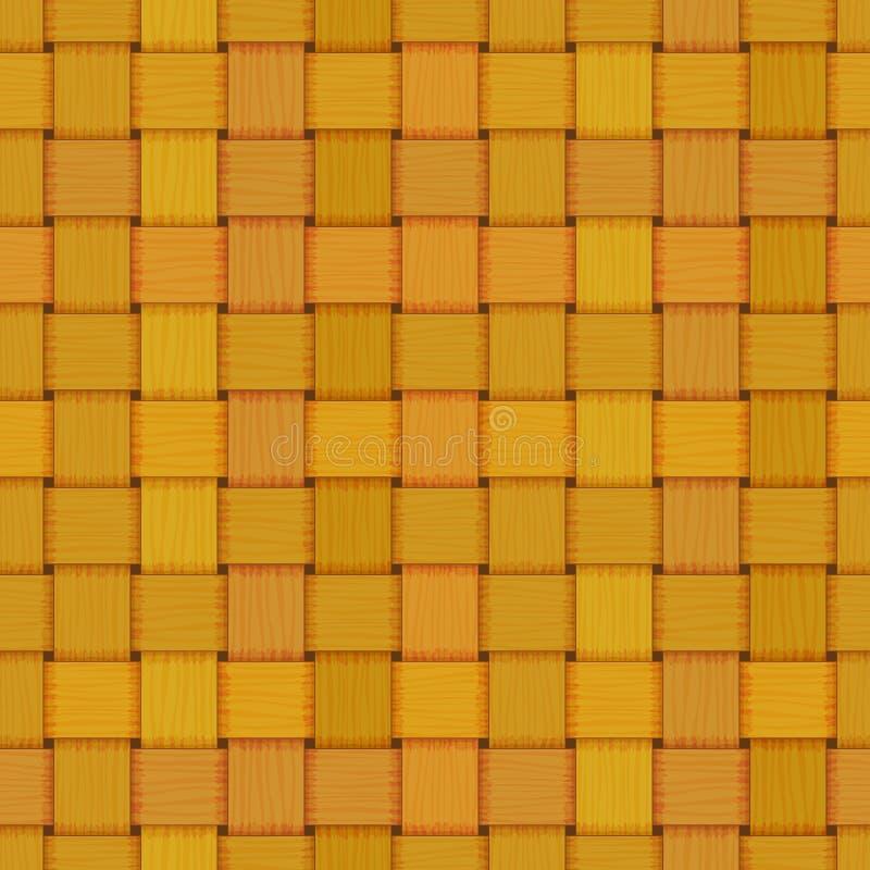 Textura de mimbre tejida inconsútil de la cerca de carril libre illustration