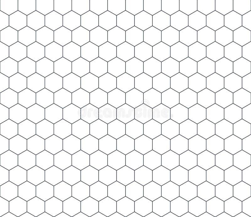 Textura de mosaico del peine de la miel Rejilla inconsútil del modelo de la forma del hexágono del esquema Diseño geométrico míni libre illustration
