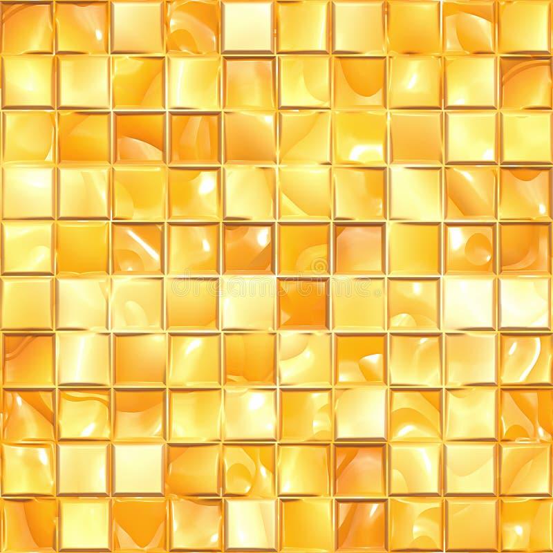 Textura de mosaico dourada ilustração do vetor