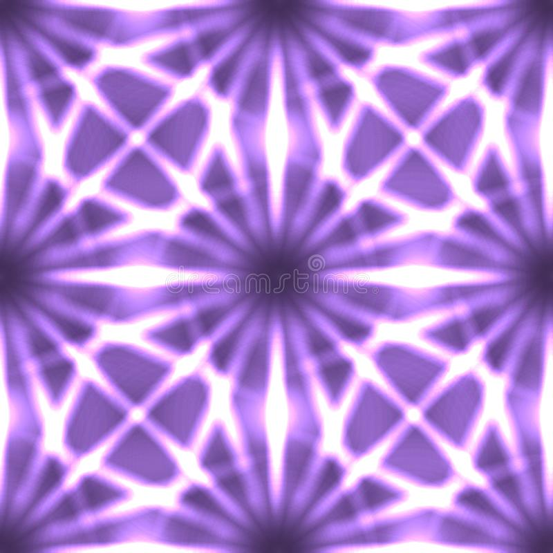 Textura de neón inconsútil de rayos y de líneas en fondo oscuro stock de ilustración