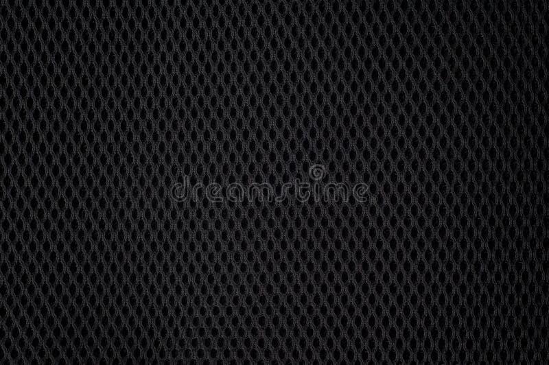 Textura de nylon preta do engranzamento fotos de stock