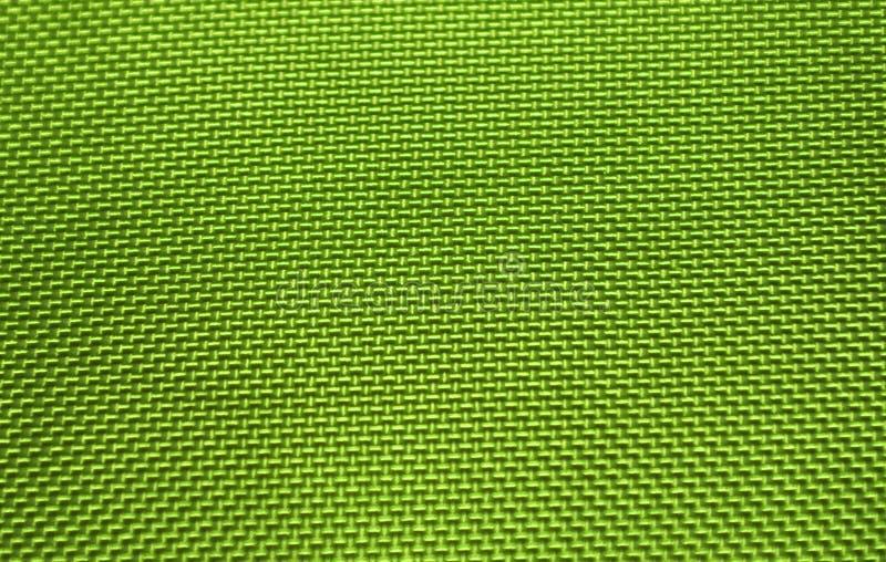 Textura de nylon verde da tela foto de stock