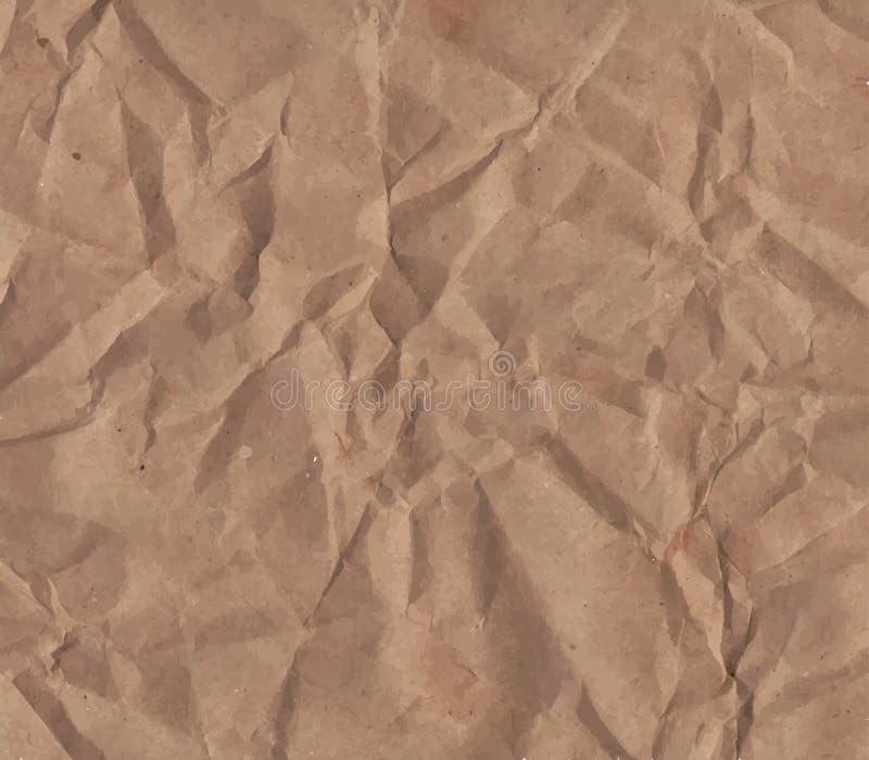 Textura de papel amarrotada ilustração stock
