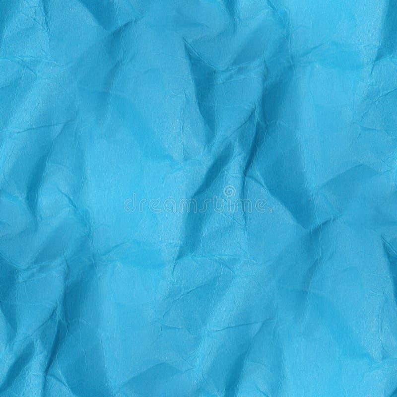 Textura de papel amarrotada - fundo azul sem emenda ilustração royalty free