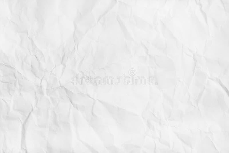 Textura de papel arrugada blanca Endecha plana, visión superior imágenes de archivo libres de regalías