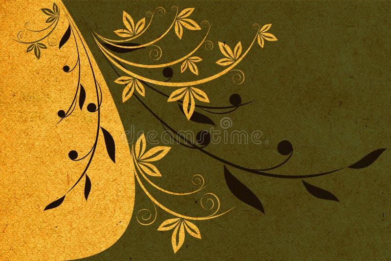 Textura de papel com teste padrão ilustração do vetor