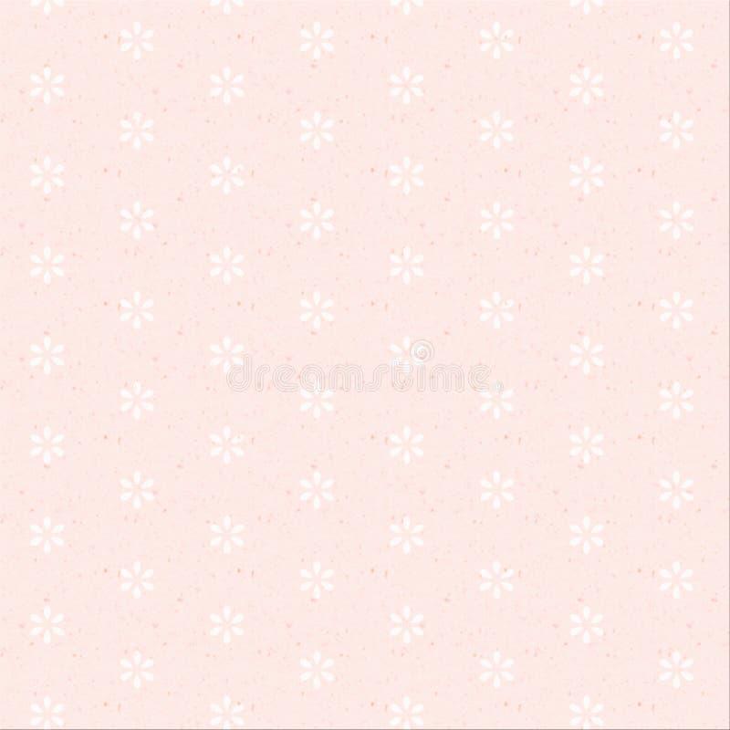 Textura de papel con la flor. stock de ilustración