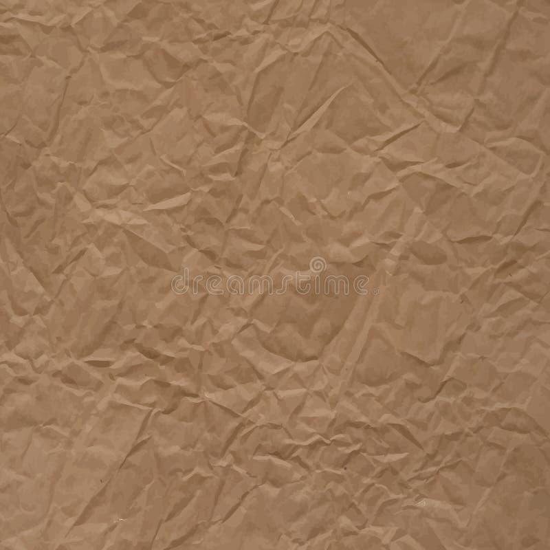 Textura de papel de empacotamento do vetor Crumpled ilustração do vetor