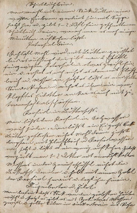 Textura de papel del fondo del vintage Texto manuscrito foto de archivo libre de regalías