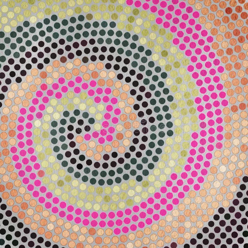 Textura de papel do Grunge, fundo do vintage ilustração do vetor