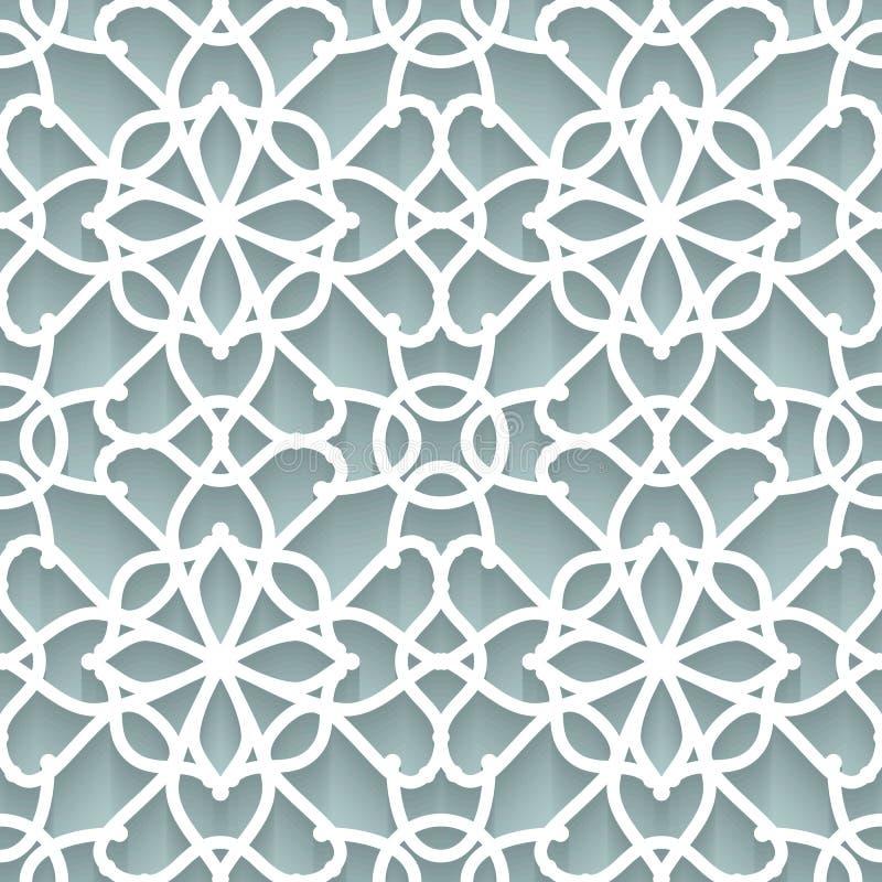 Textura de papel do laço ilustração do vetor