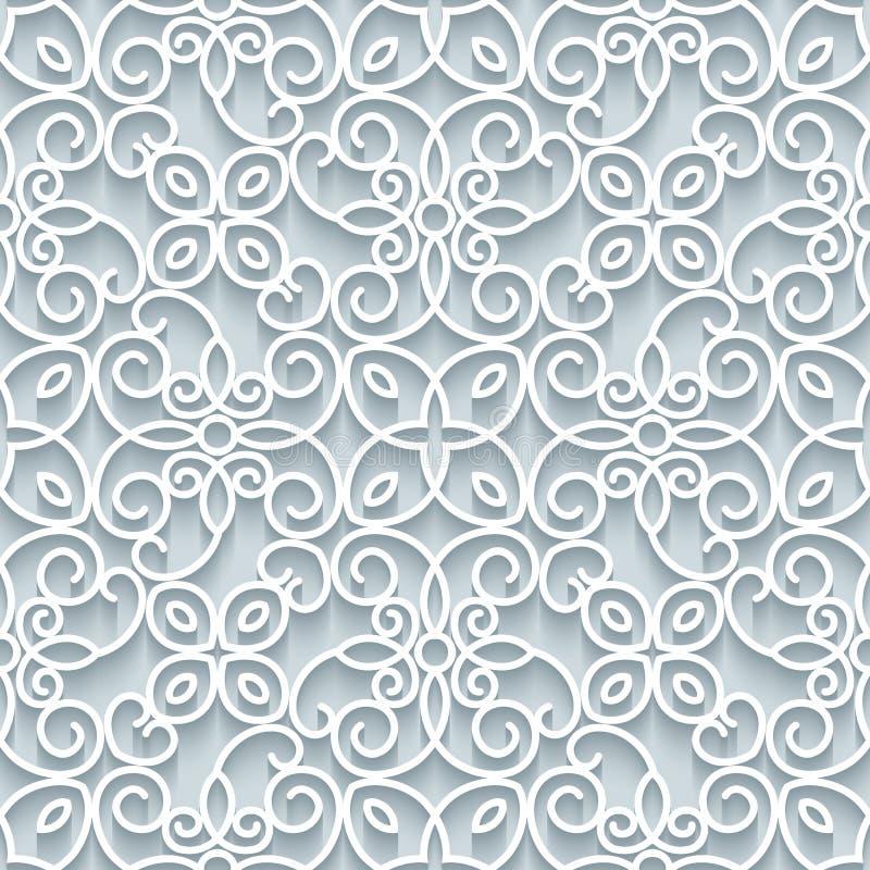Textura de papel do laço do entalhe, teste padrão sem emenda ilustração royalty free