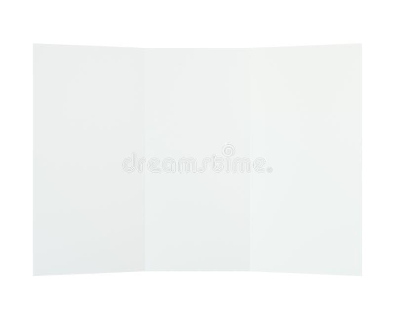 Textura de papel doblada de la hoja de la página representación 3d foto de archivo libre de regalías