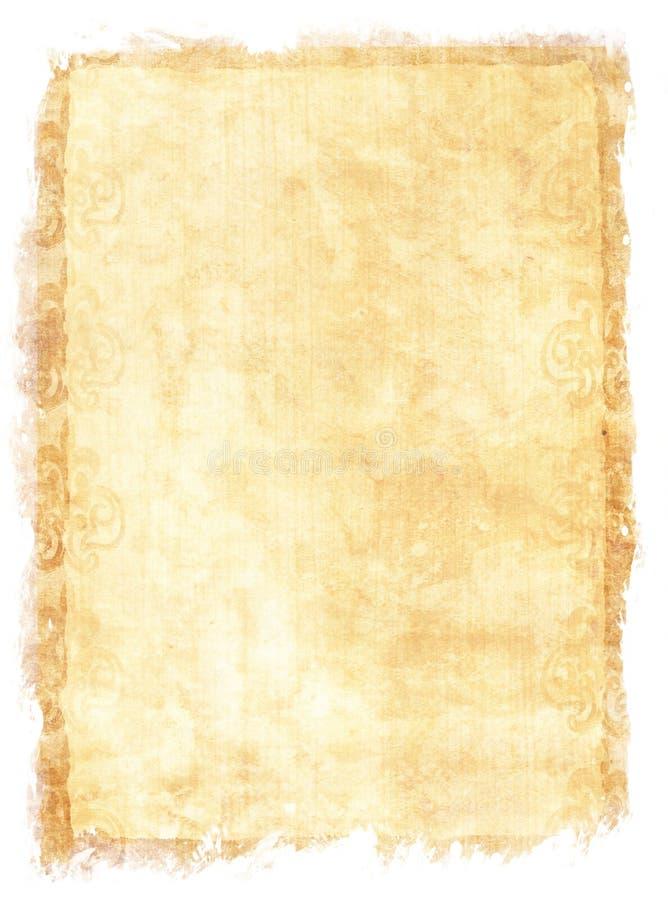 Textura de papel envelhecida foto de stock