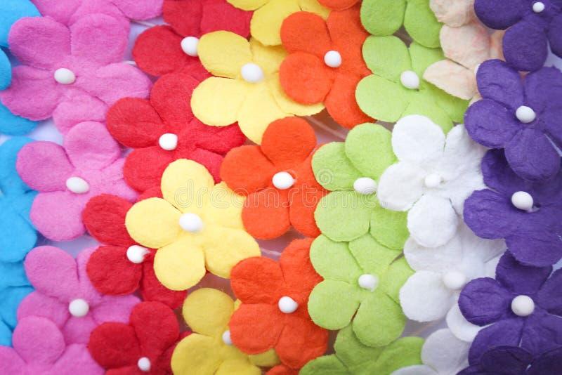 Textura de papel de las flores multicoloras coloridas para el fondo imágenes de archivo libres de regalías