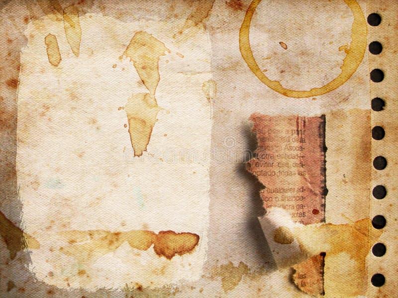 Textura de papel no. 2 de Grunge ilustração do vetor