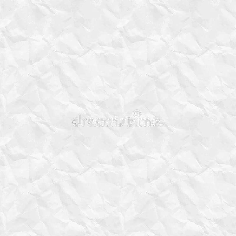 Textura de papel rumpled inconsútil ilustración del vector