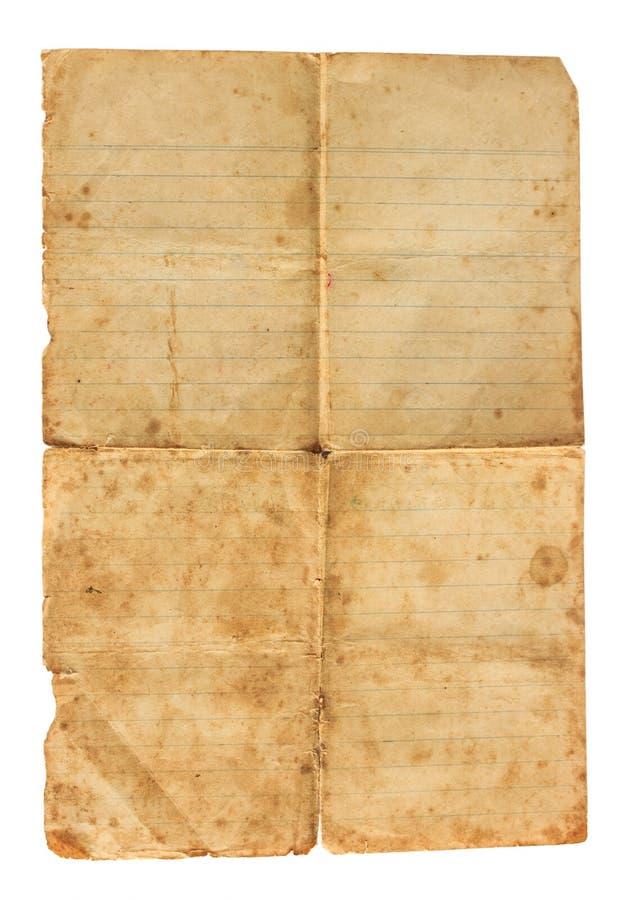 Textura de papel velha fotografia de stock royalty free