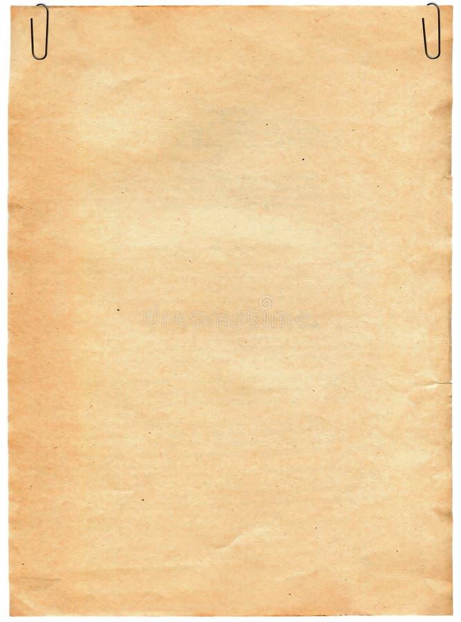 Textura de papel velha com grampo imagem de stock royalty free