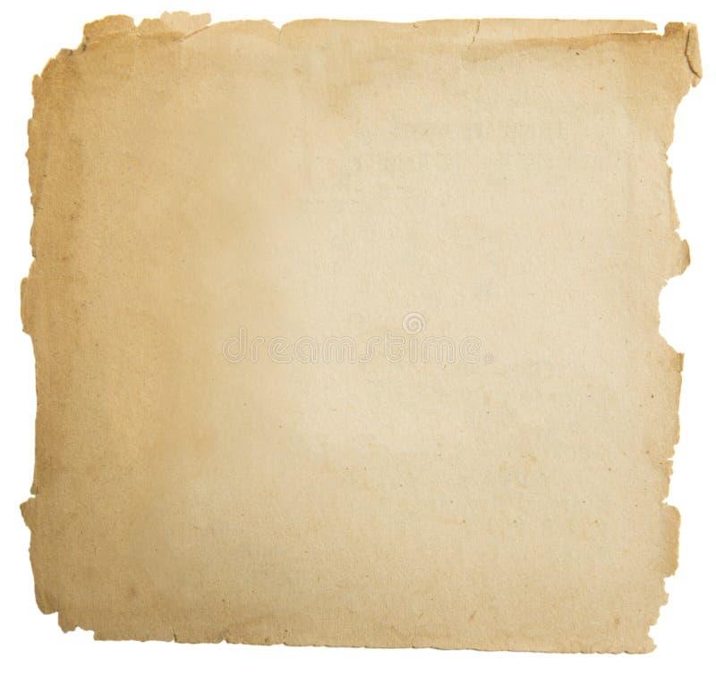 Textura de papel velha do grunge, Yellow Pages vazio isolado no branco imagem de stock