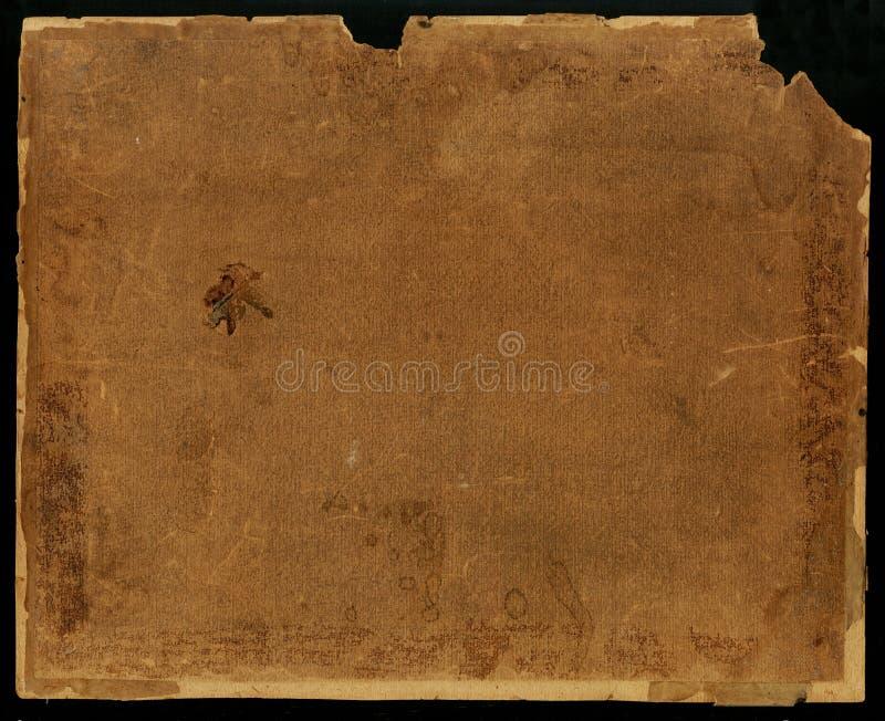 Textura de papel velha Papel velho do Grunge para o mapa ou o vintage do tesouro Em um fundo preto imagens de stock