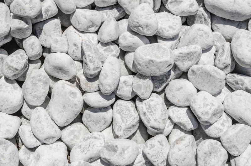 Textura de pedra branca do cascalho fotos de stock royalty free