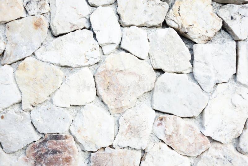 Textura de pedra branca do fundo do cascalho fotos de stock