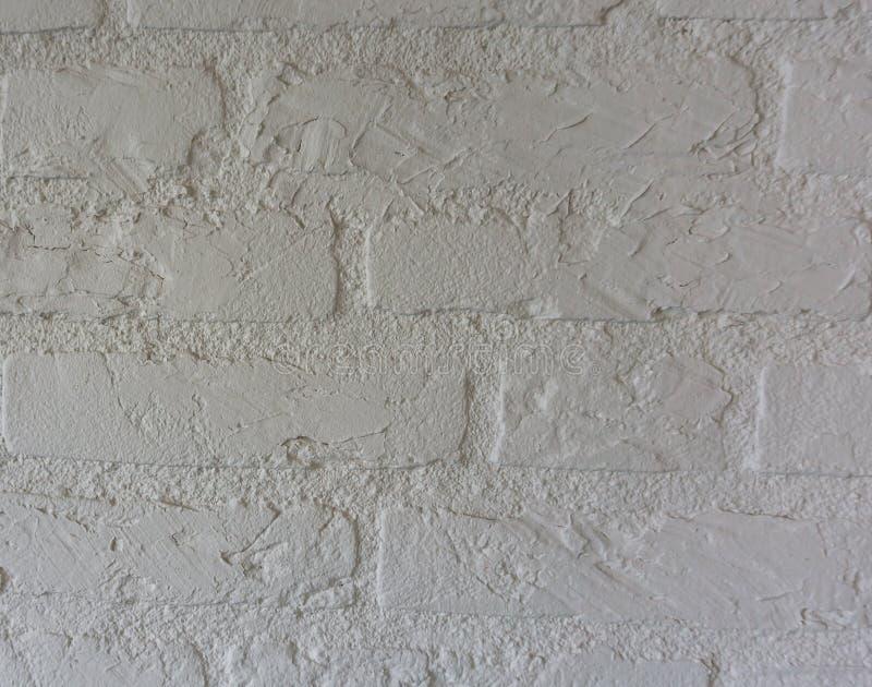 Textura de pedra branca pura do teste padrão do fundo da parede de tijolo foto de stock