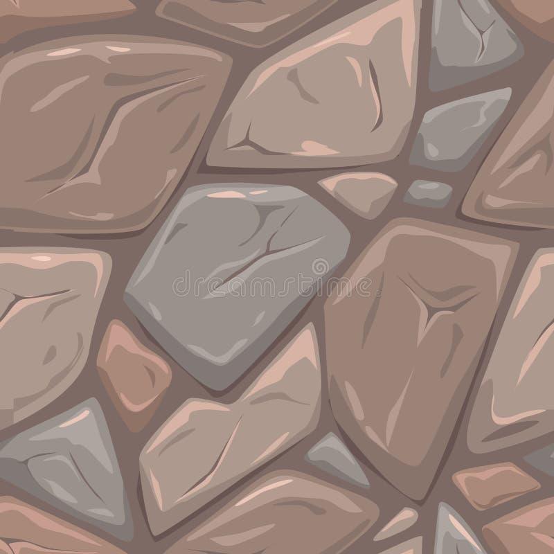 Textura de pedra cinzenta sem emenda ilustração do vetor
