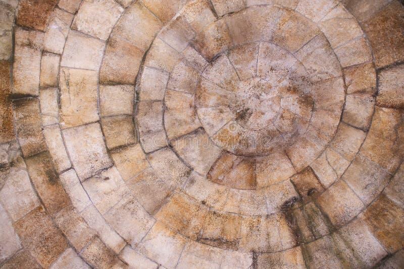Textura de pedra do bloco em matiz marrons imagens de stock