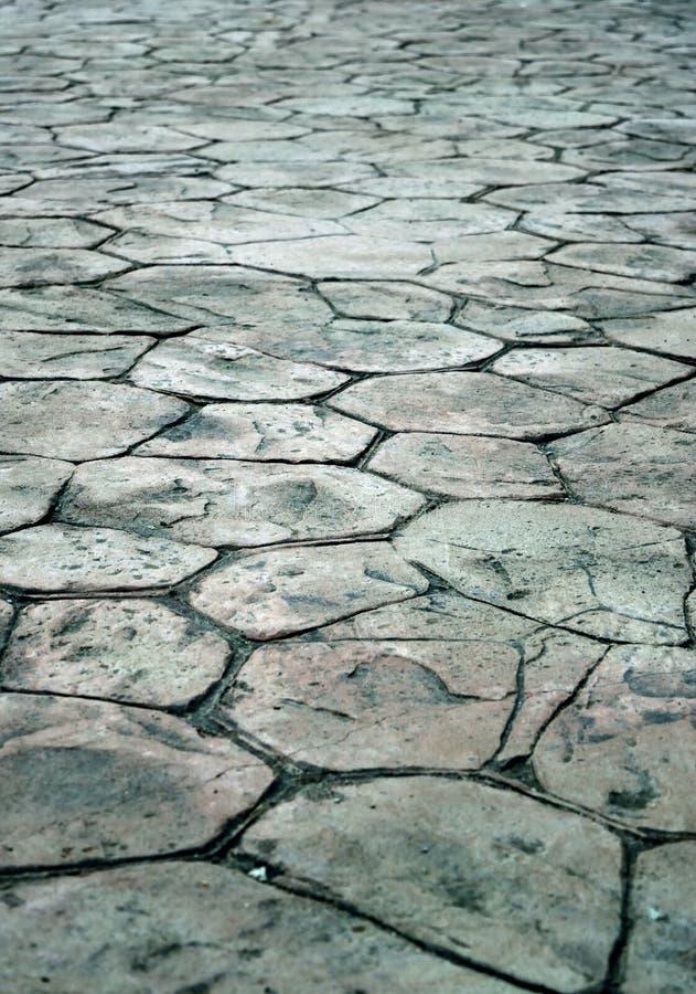 Textura de pedra do concreto do selo do pavimento fotografia de stock royalty free