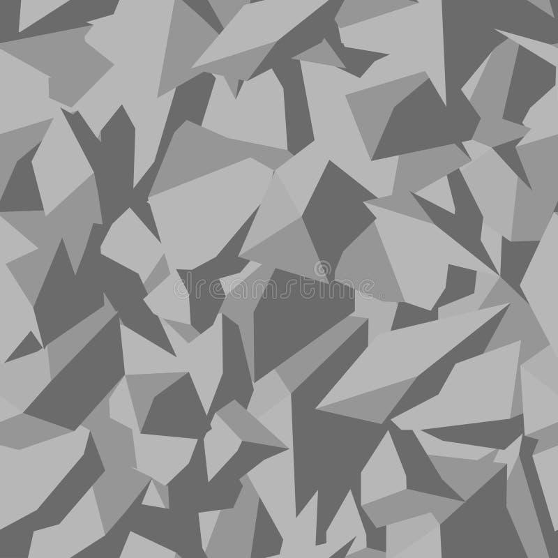 Textura de pedra do solo em cores cinzentas na vista superior, fundo sem emenda Teste padrão de planos arquitetónicos e da paisag ilustração stock
