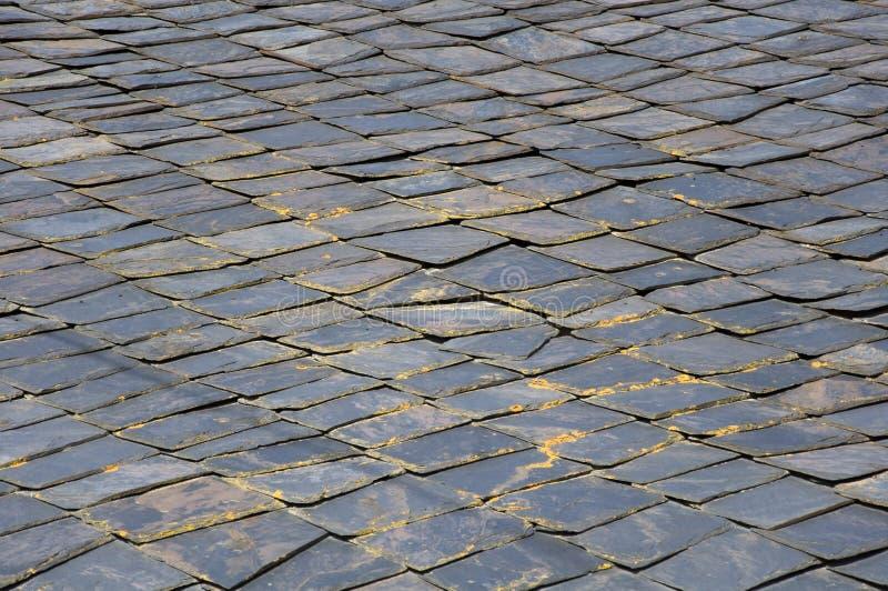 Textura de pedra do telhado imagens de stock royalty free