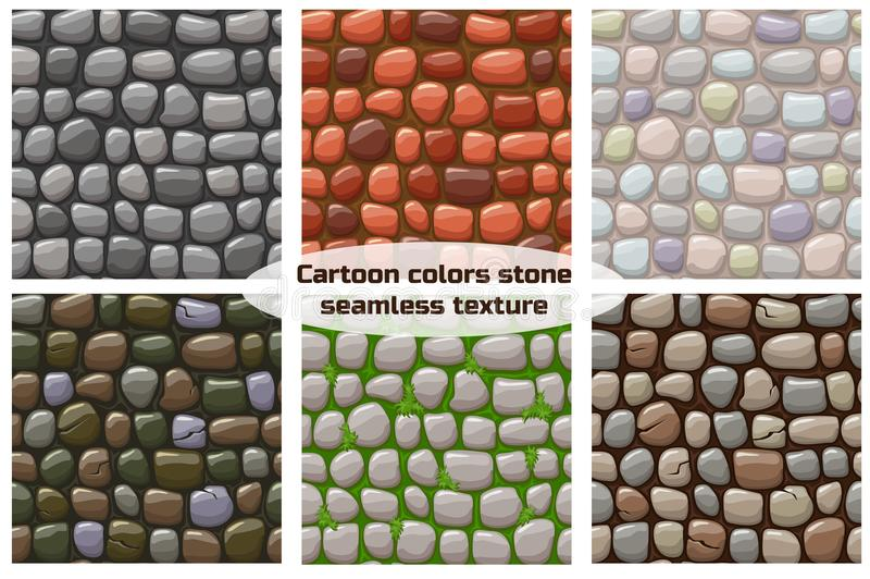 A textura de pedra dos desenhos animados, vector o fundo sem emenda ilustração stock