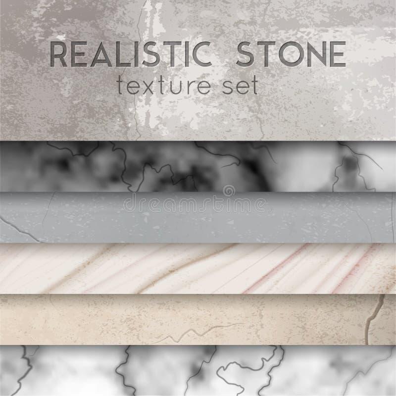 A textura de pedra prova o grupo realístico ilustração royalty free