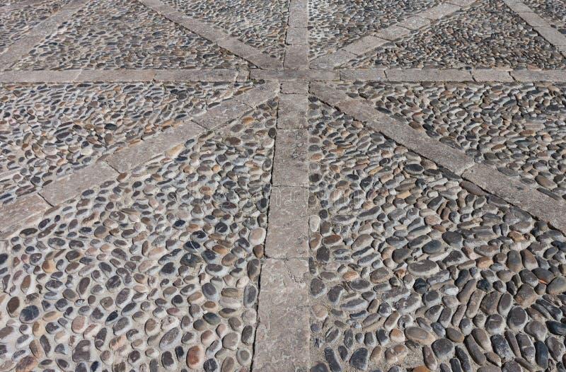 Textura de piedra del camino de los guijarros imagen de archivo libre de regalías