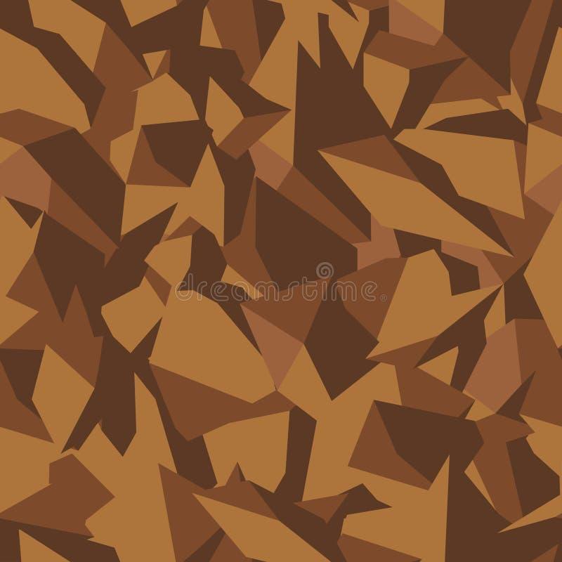 Textura de piedra del suelo en colores marrones en la visión superior, fondo inconsútil Modelo para el terraplén de los planes ar libre illustration