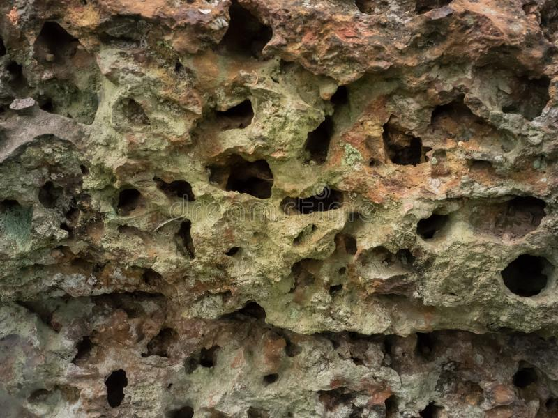 Textura de piedra de la erosión imagen de archivo