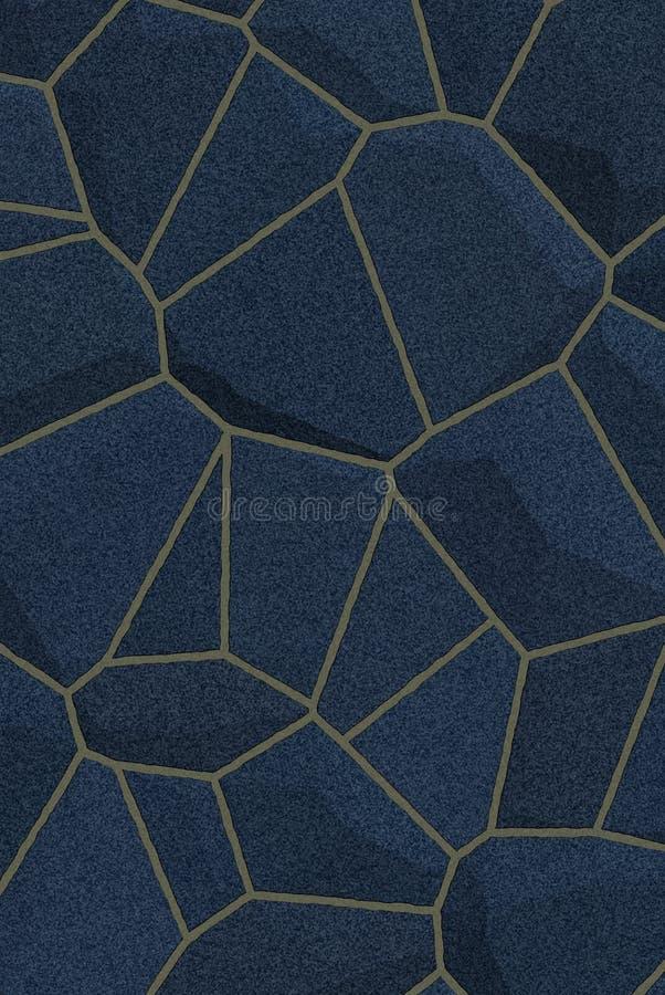 Textura de piedra oscura azul ilustración del vector