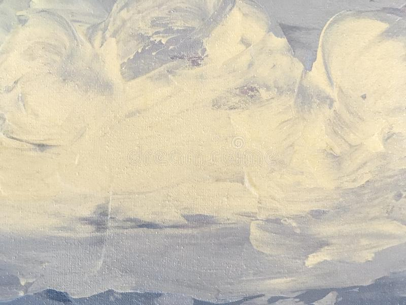 Textura de pintar el fondo del arte abstracto color azul claro y blanco foto de archivo libre de regalías