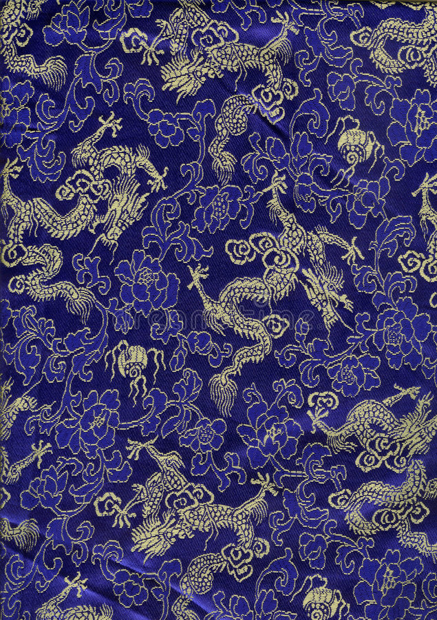 Textura de seda chinesa dos dragões imagens de stock