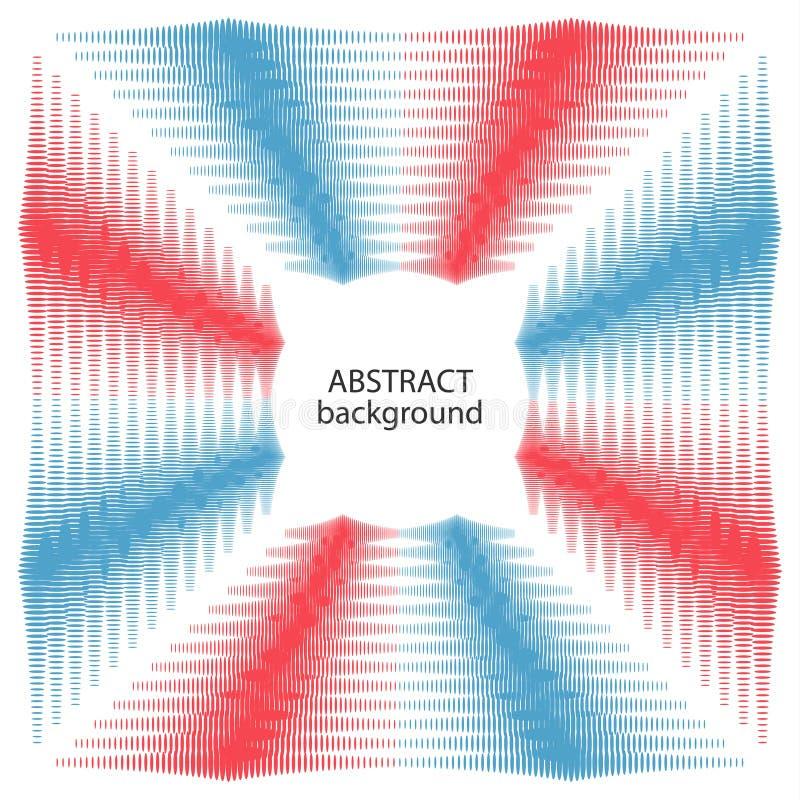 Textura de semitono abstracta ilustración del vector