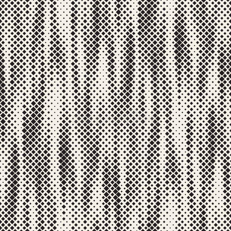 Textura de semitono elegante moderna Fondo abstracto sin fin con los cuadrados al azar del tamaño Modelo de mosaico inconsútil de ilustración del vector