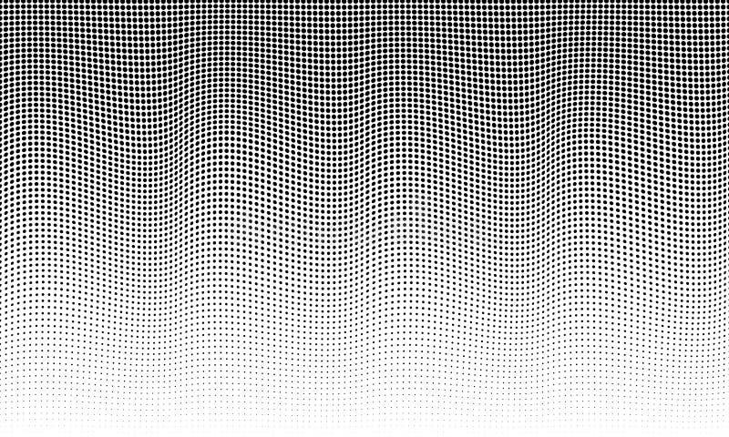 Textura de semitono Modelo de semitono abstraiga el fondo stock de ilustración