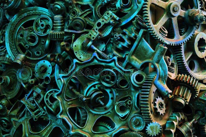 Textura de Steampunk, backgroung com peças mecânicas, rodas de engrenagem fotos de stock royalty free