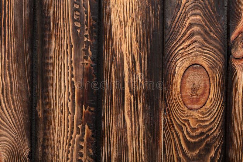 Textura de tableros de madera marrón vieja oscura imagen de archivo libre de regalías